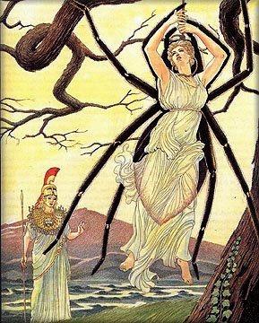 Illustration by Giovanni Caselli of Arachne